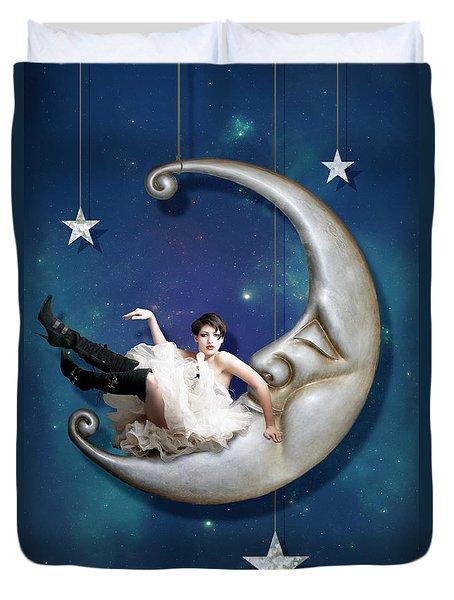 Paper Moon Duvet Cover by Linda Lees
