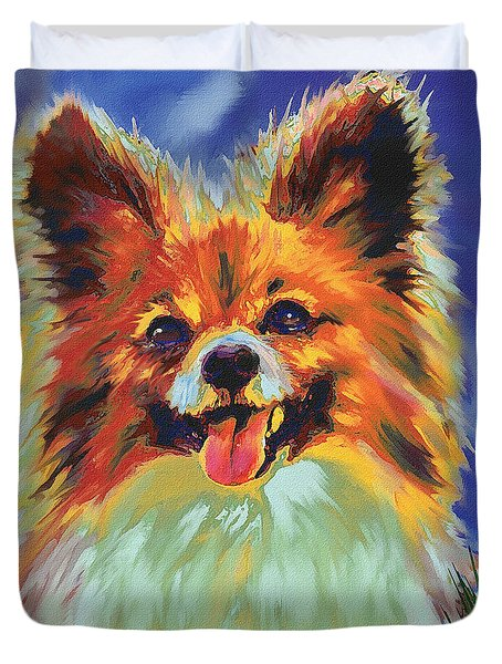 Papillion Puppy Duvet Cover by Jane Schnetlage