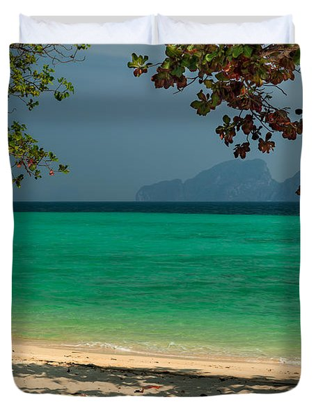 Paradise Found Duvet Cover by Adrian Evans