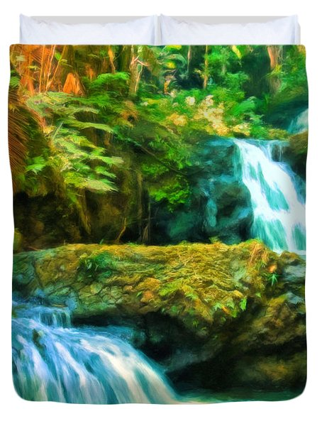Paradise Found Duvet Cover by Michael Pickett