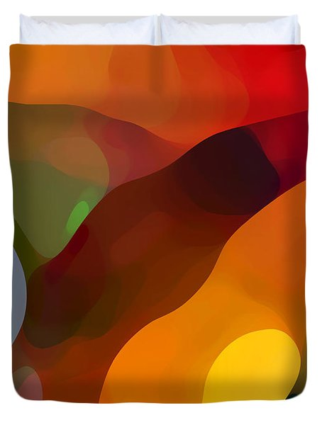 Paradise Found Tall Duvet Cover by Amy Vangsgard