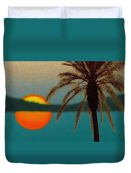 Paradise Sun Duvet Cover by Ben and Raisa Gertsberg