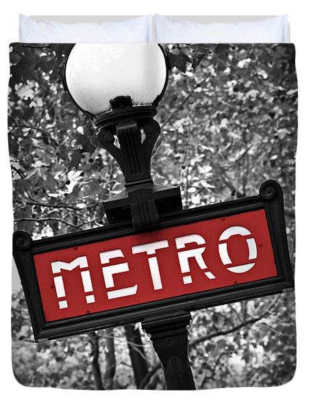 Paris metro Duvet Cover by Elena Elisseeva