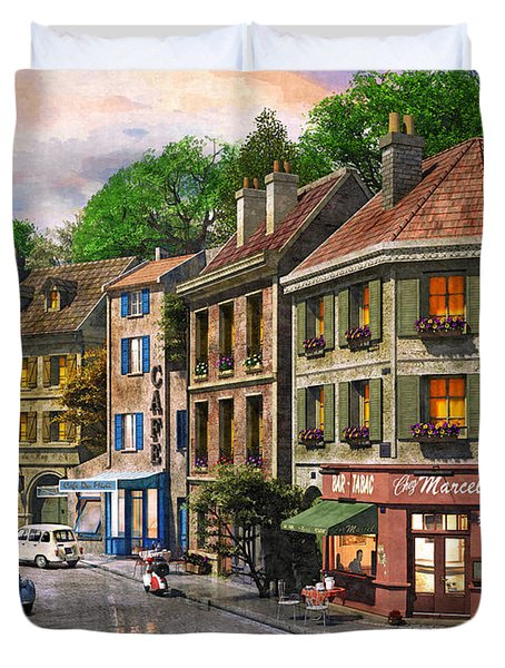 Paris Street Duvet Cover by Dominic Davison