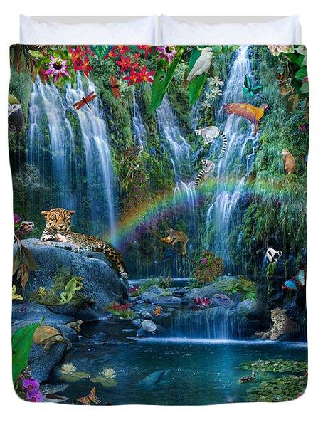 Parrot Tropics Duvet Cover by Alixandra Mullins