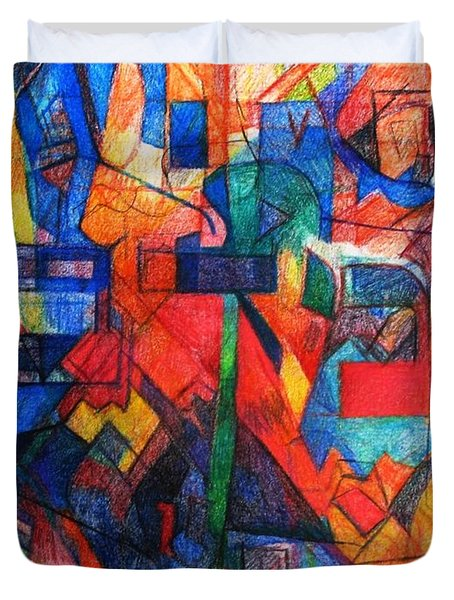 Parshat Bamidbar Duvet Cover by David Baruch Wolk