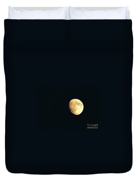 Partial moon Duvet Cover by Claudia Mottram