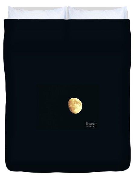 Partial moon Duvet Cover by Claudia Mottram