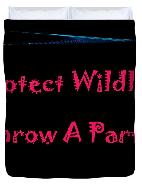 Party 4 Duvet Cover by Aimee L Maher Photography and Art Visit ALMGallerydotcom