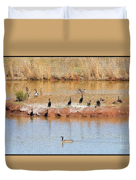 Party Island Duvet Cover by Betty LaRue