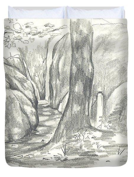 Passageway at Elephant Rocks Duvet Cover by Kip DeVore