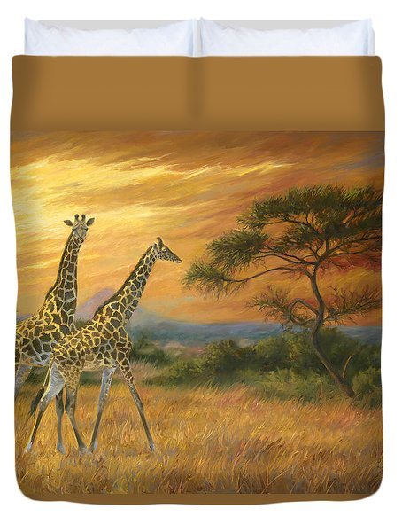 Passing Through Duvet Cover by Lucie Bilodeau