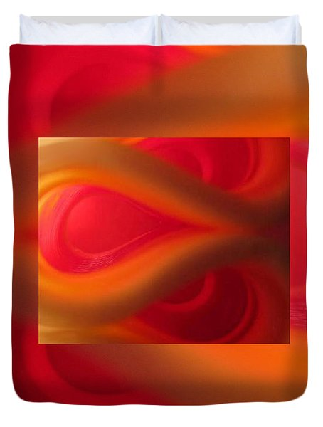 Passion Abstract 02 Duvet Cover by Ausra Paulauskaite