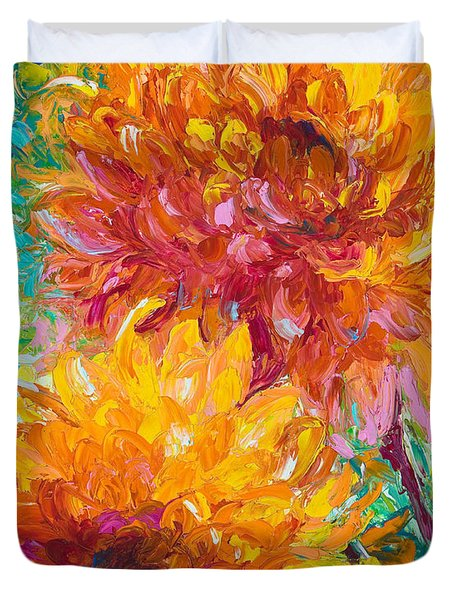 Passion Duvet Cover by Talya Johnson
