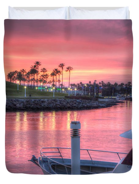 Pastel Colored Sunset Duvet Cover by Heidi Smith