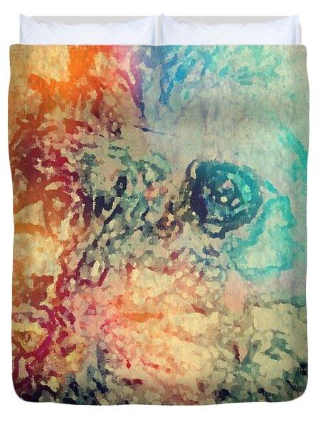 Pastel Pooch Duvet Cover by Tina  Vaughn