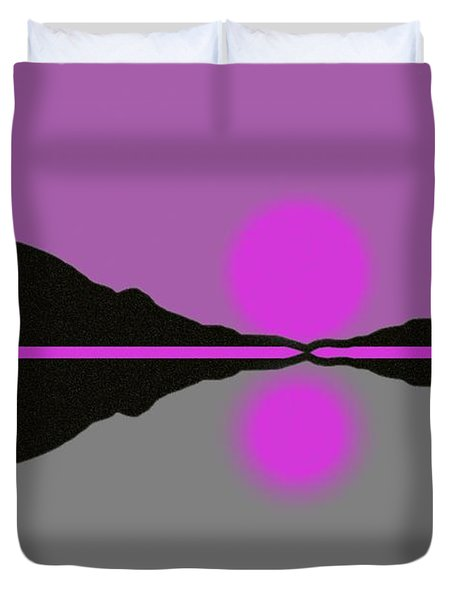 Pastel Sunrise Duvet Cover by George Pedro
