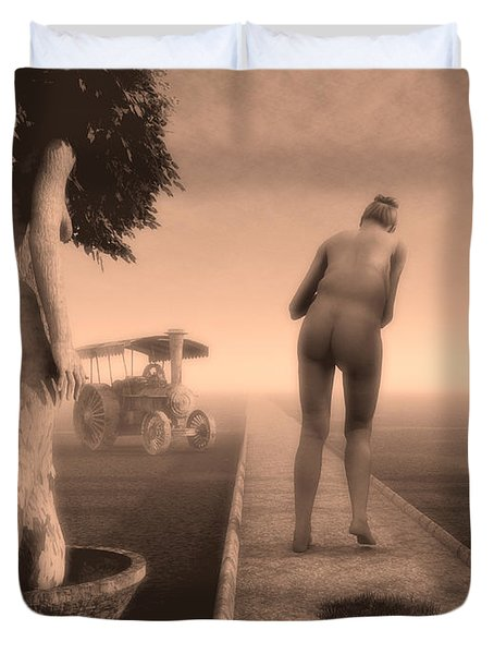Path In Life Duvet Cover by Bob Orsillo