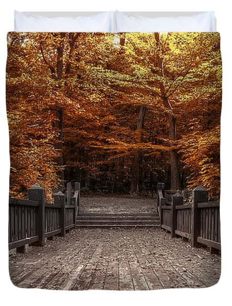 Path To The Wild Wood Duvet Cover by Scott Norris