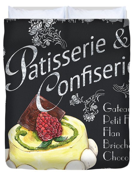 Patisserie and Confiserie Duvet Cover by Debbie DeWitt