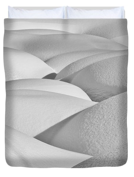 Patterns Of Shadow And Shape Created Duvet Cover by Ray Bulson