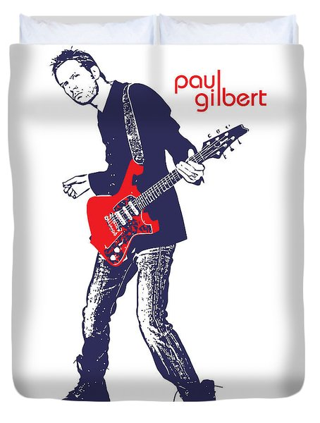 Paul Gilbert No.01 Duvet Cover by Caio Caldas
