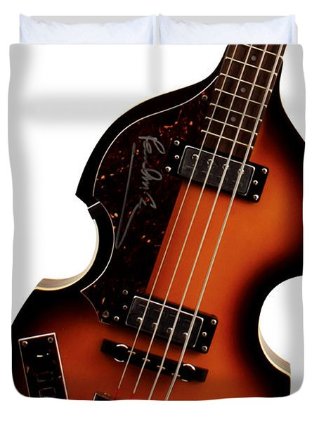 Paul McCartney Hofner Bass  Duvet Cover by Bill Cannon