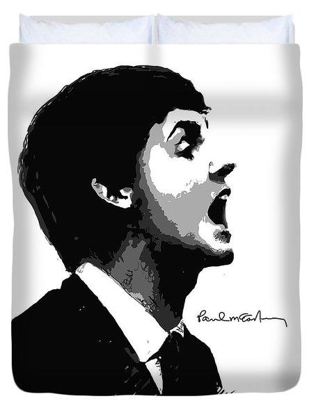 Paul McCartney No.01 Duvet Cover by Caio Caldas