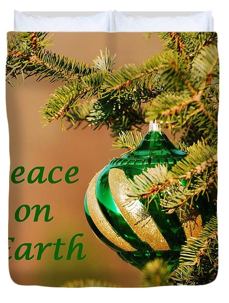 Peace On Earth Duvet Cover by Francie Davis