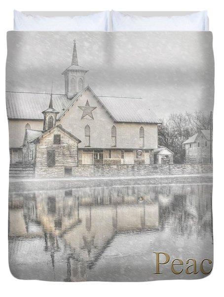 Peace On Earth Duvet Cover by Lori Deiter
