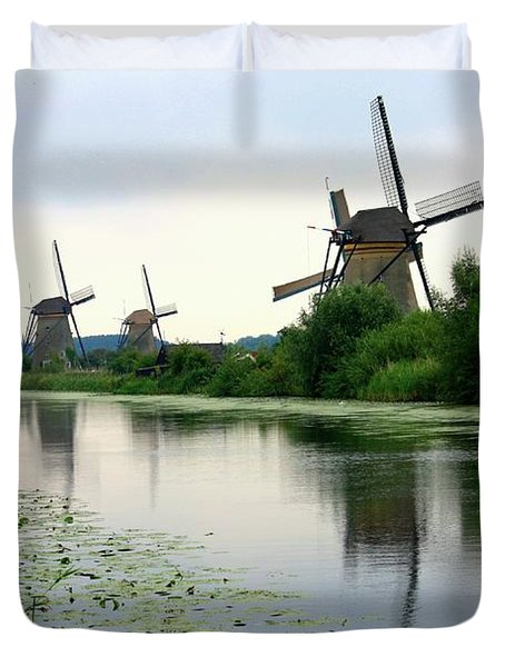 Peaceful Dutch Canal Duvet Cover by Carol Groenen