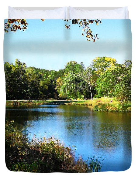 Peaceful Lake Duvet Cover by Susan Savad