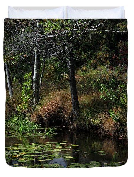 Peaceful Pond Duvet Cover by Karol Livote