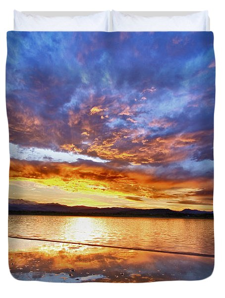 Peaceful Reflections Duvet Cover by James BO  Insogna