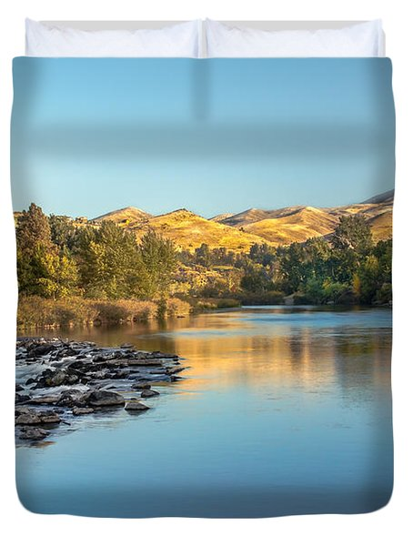Peaceful River Duvet Cover by Robert Bales