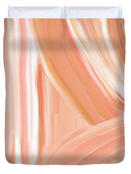Peach Accent Duvet Cover by Lourry Legarde