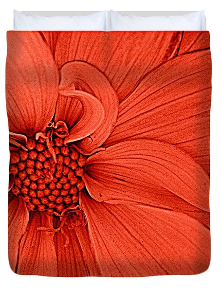Peach Blossom Duvet Cover by Dora Sofia Caputo Photographic Art and Design