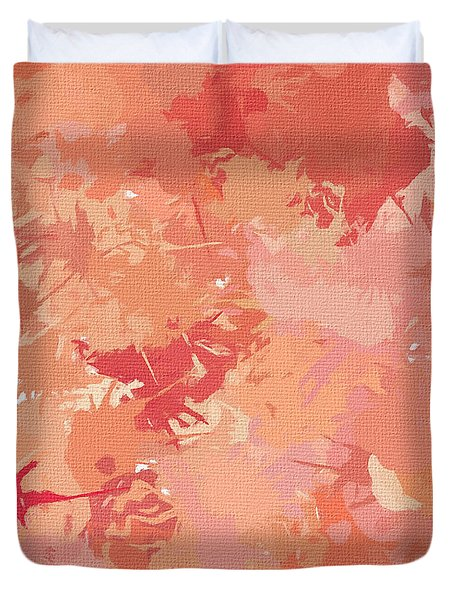 Peach Galore Duvet Cover by Lourry Legarde