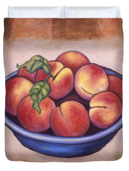 Peaches Duvet Cover by Linda Mears