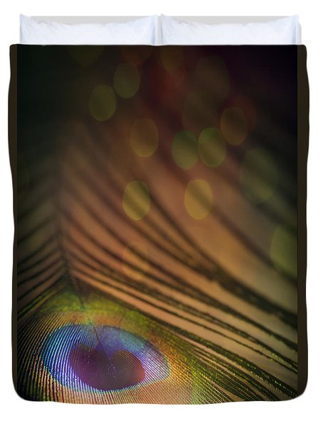 Peacock Party Duvet Cover by Jan Bickerton
