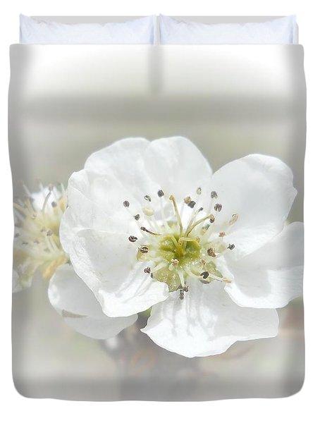 Pear Blossom Duvet Cover by Judy Hall-Folde