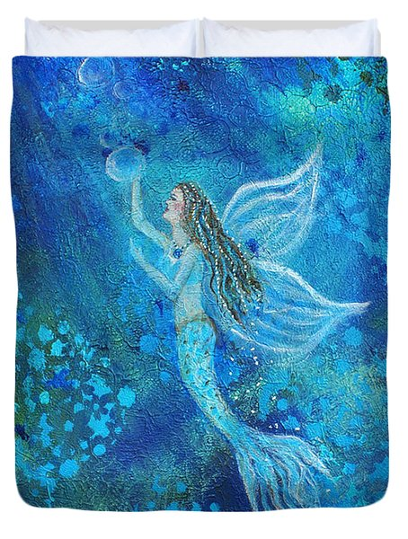 Pearl Out Of The Depths Duvet Cover by The Art With A Heart By Charlotte Phillips