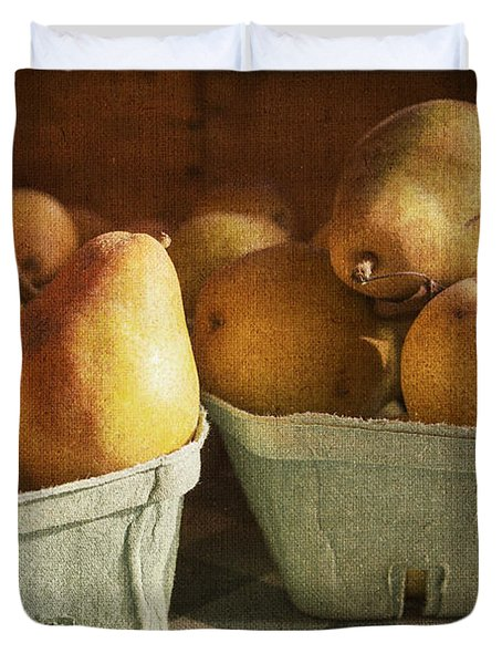 Pears Duvet Cover by Caitlyn  Grasso