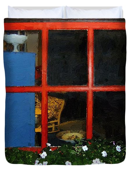 Peeking In Duvet Cover by RC deWinter