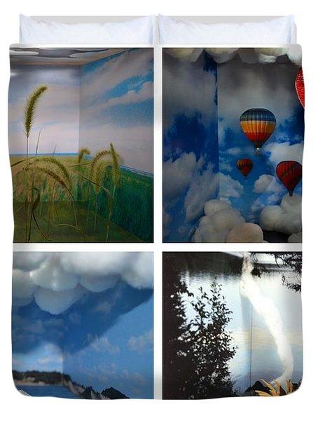 Peepholes Duvet Cover by Michelle Calkins