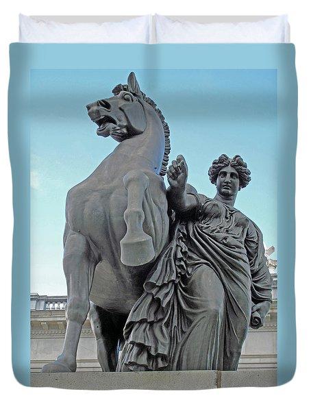 Pegasus Tamed Duvet Cover by Barbara McDevitt