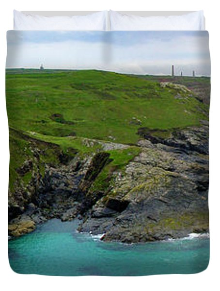Pendeen Watch To Levant Duvet Cover by Terri Waters
