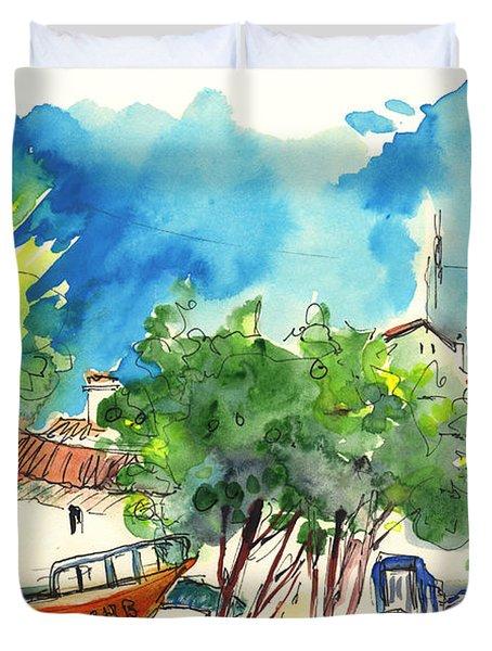 Peniche In Portugal 08 Duvet Cover by Miki De Goodaboom