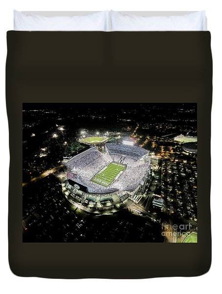 Penn State Whiteout Duvet Cover by Amesphotos