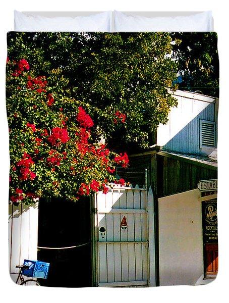 Pepes In Key West Florida Duvet Cover by Susanne Van Hulst